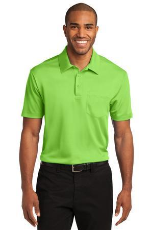 Steel Grey 3XL Port Authority Mens Silk Touch Performance Pocket Polo K540P